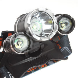 High Power  Rechargeable Camping Lights Strong LED Headlamp  18650 Li Ion Batteries