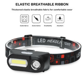 USB Charging Rechargeable COB Headlamp With 6 Lighting Modes Dual Led Source